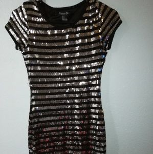 Forever 21 black sequin dress size small